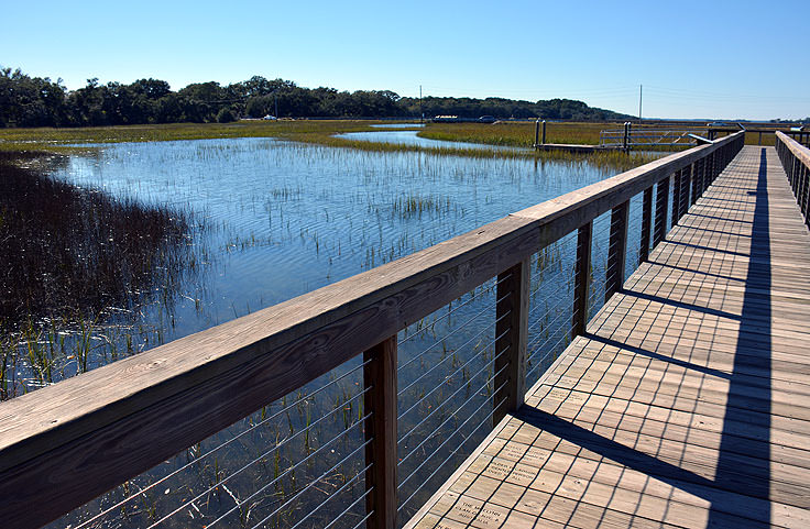 Waterfront walkway at the Coastal Discovery Museum in Hilton Head, SC