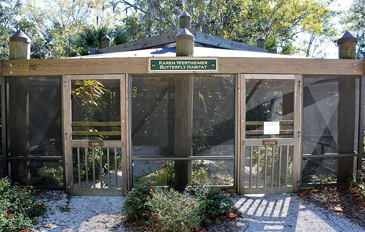 The butterfly habitat at the Coastal Discovery Museum in Hilton Head, SC