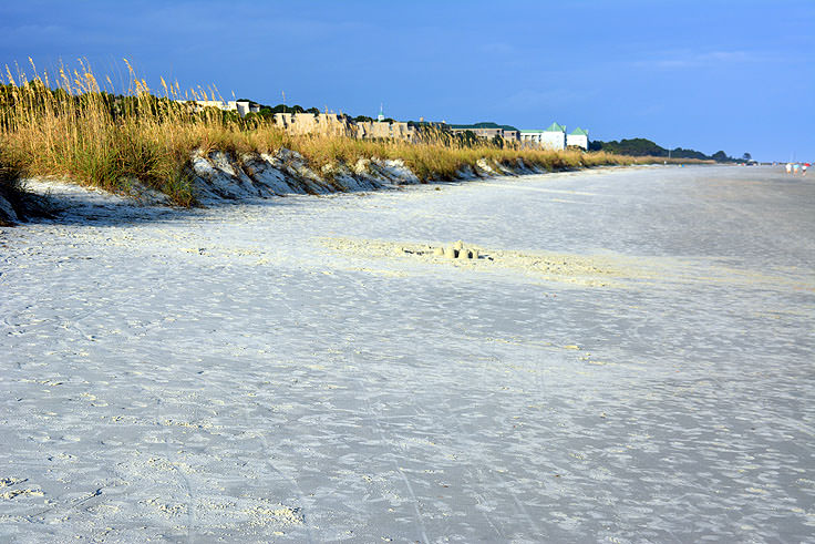The beach at Folly Field Park in Hilton Head, SC