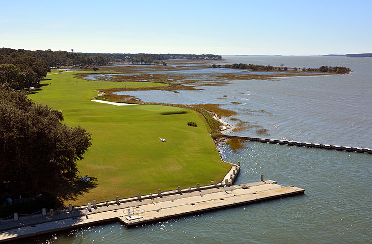 Golf course adjacent to Harbour Town in Hilton Head, SC