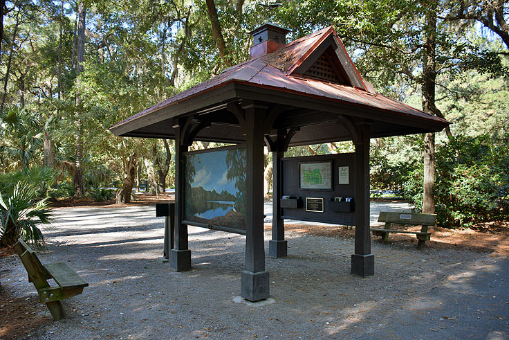 Information station at Sea Pines Forest Preserve in Hilton Head, SC