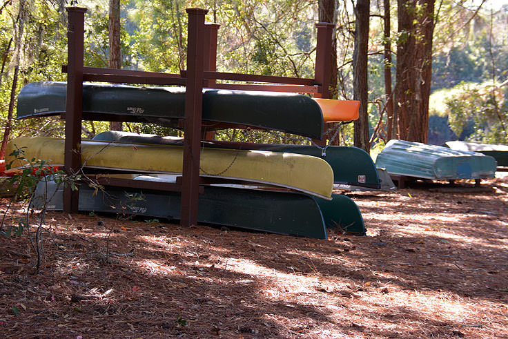 Canoe rentals at Sea Pines Forest Preserve in Hilton Head, SC