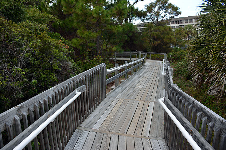 Boardwalk To The Beach At Driessen Park In Hilton Head Sc