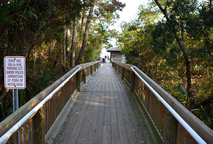 Walkway To The Beach At Folly Field Park In Hilton Head Sc