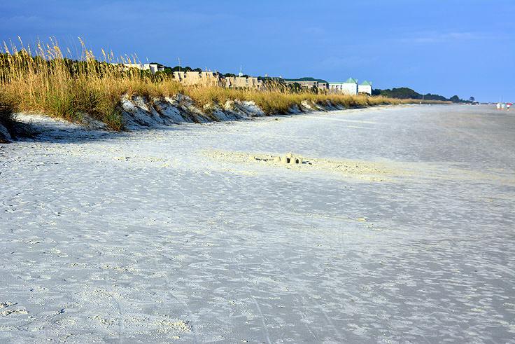 The Beach At Folly Field Park In Hilton Head Sc