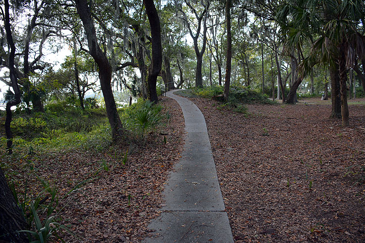 A walkway in Fort Mitchel in Hilton Head, SC